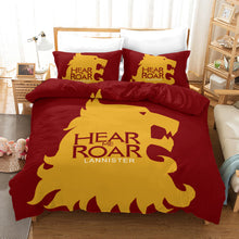 Load image into Gallery viewer, Game of Thrones Hear Me Roar Lannister #32 Duvet Cover Quilt Cover Pillowcase Bedding Set Bed Linen Home Decor