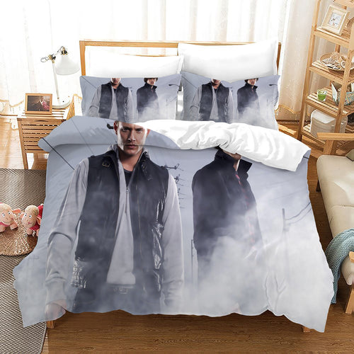 Supernatural Dean Sam Winchester #17 Duvet Cover Quilt Cover Pillowcase Bedding Set Bed Linen Home Decor