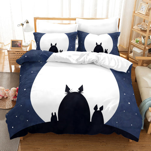 Tonari no Totoro #34 Duvet Cover Quilt Cover Pillowcase Bedding Set Bed Linen Home Decor