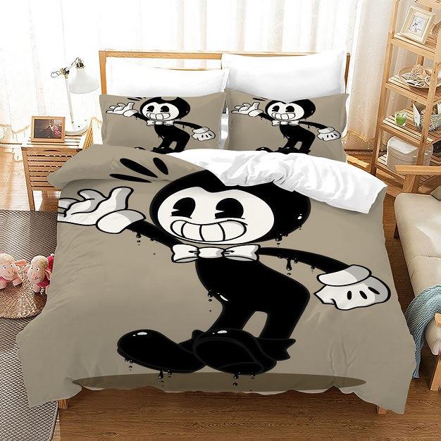 Bendy And The Ink Machine #47 Duvet Cover Quilt Cover Pillowcase Bedding Set Bed Linen Home Bedroom Decor