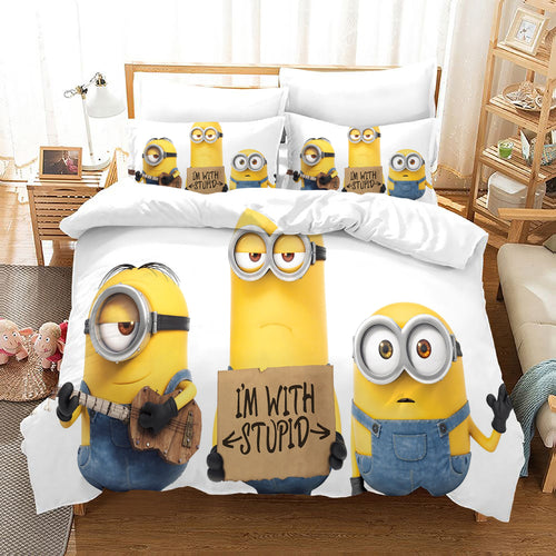 Despicable Me Minions #37 Duvet Cover Quilt Cover Pillowcase Bedding Set Bed Linen Home Decor