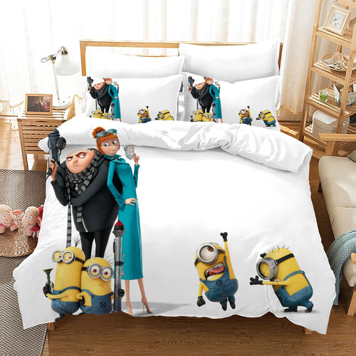 Despicable Me Minions #38 Duvet Cover Quilt Cover Pillowcase Bedding Set Bed Linen Home Decor