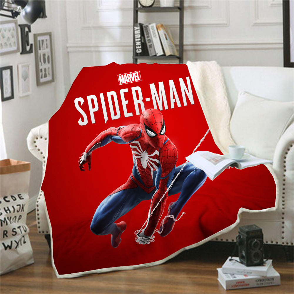 Spider-Man Into the Spider-Verse Miles Morales #3 Blanket Super Soft Cozy Sherpa Fleece Throw Blanket for Men Boys