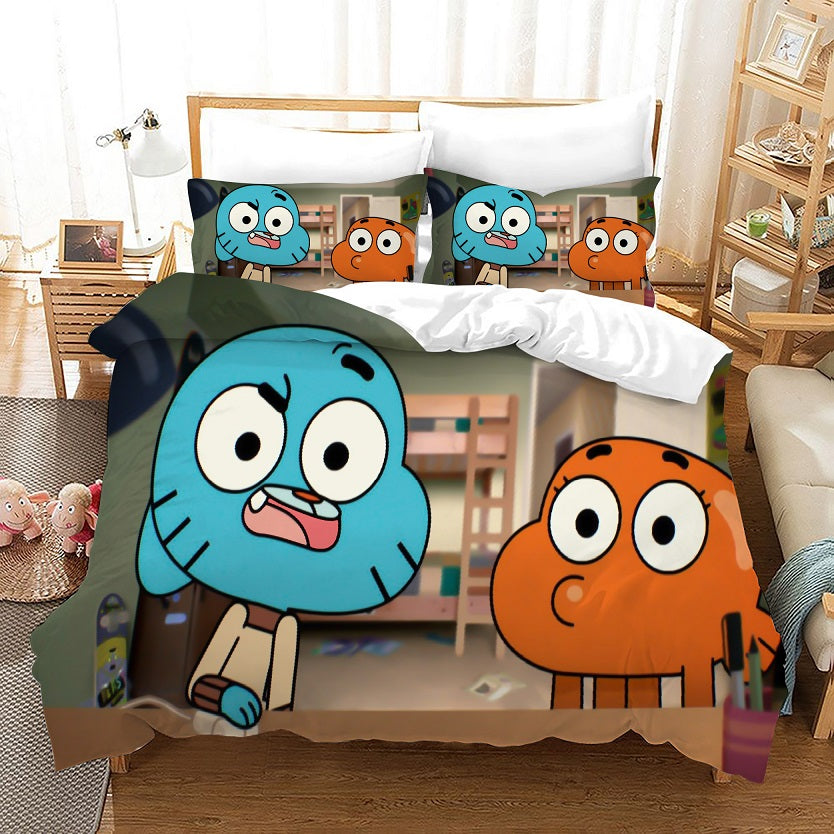 The Amazing World of Gumball #8 Duvet Cover Quilt Cover Pillowcase Bedding Set Bed Linen Home Bedroom Decor
