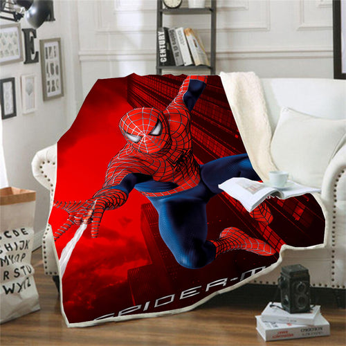 Spider Man Peter Parker Spiderman #8 Blanket Super Soft Cozy Sherpa Fleece Throw Blanket for Men Boys