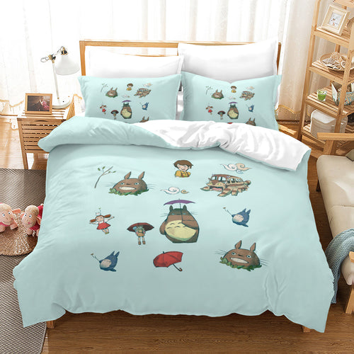 Tonari no Totoro #35 Duvet Cover Quilt Cover Pillowcase Bedding Set Bed Linen Home Decor