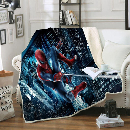 Spider Man Peter Parker Spiderman #9 Blanket Super Soft Cozy Sherpa Fleece Throw Blanket for Men Boys