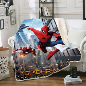 Spider-Man Into the Spider-Verse Miles Morales #8 Blanket Super Soft Cozy Sherpa Fleece Throw Blanket for Men Boys