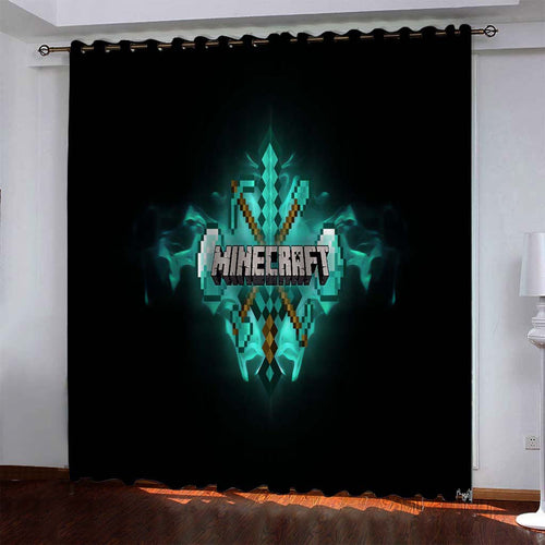 Minecraft #3 Blackout Curtains For Window Treatment Set For Living Room Bedroom
