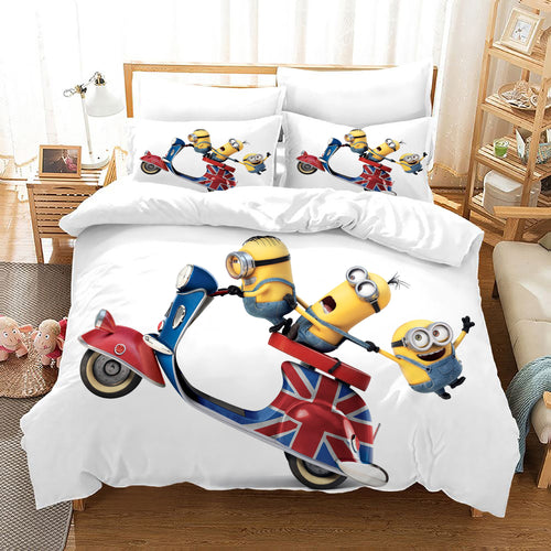 Despicable Me Minions #39 Duvet Cover Quilt Cover Pillowcase Bedding Set Bed Linen Home Decor