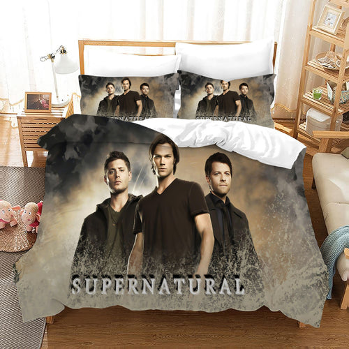 Supernatural Dean Sam Winchester #19 Duvet Cover Quilt Cover Pillowcase Bedding Set Bed Linen Home Decor