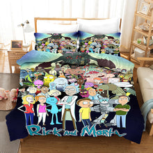 Load image into Gallery viewer, Rick and Morty Season 4 #9 Duvet Cover Quilt Cover Pillowcase Bedding Set Bed Linen Home Bedroom Decor