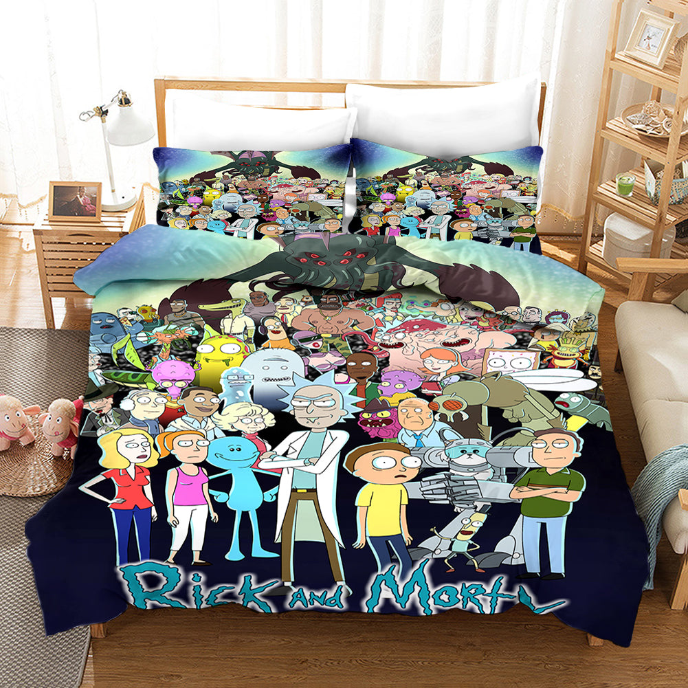 Rick and Morty Season 4 #9 Duvet Cover Quilt Cover Pillowcase Bedding Set Bed Linen Home Bedroom Decor