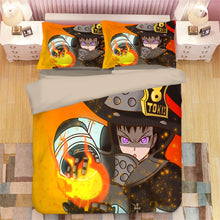 Load image into Gallery viewer, Enn Enn no Shouboutai Fire Force #9 Duvet Cover Quilt Cover Pillowcase Bedding Set Bed Linen Home Bedroom Decor