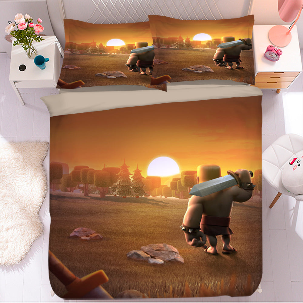 Clash of Clans #9 Duvet Cover Quilt Cover Pillowcase Bedding Set Bed Linen Home Bedroom Decor