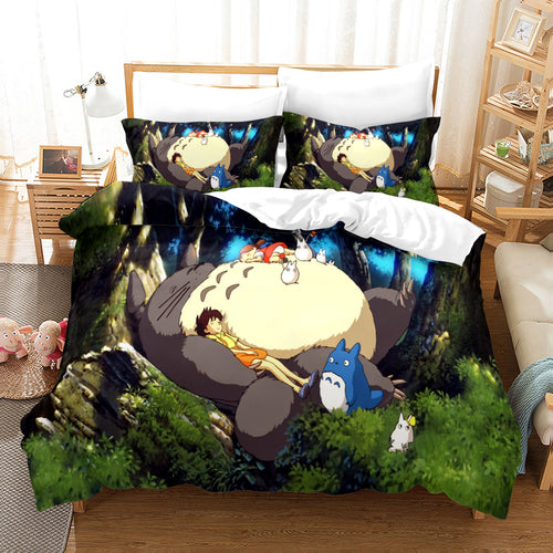 Tonari no Totoro #36 Duvet Cover Quilt Cover Pillowcase Bedding Set Bed Linen Home Decor