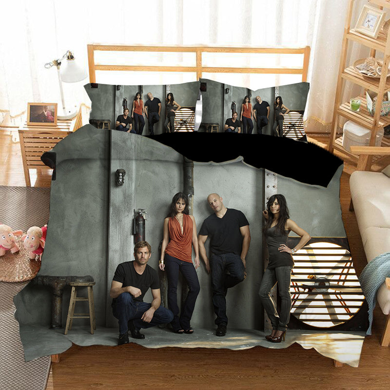 Fast & Furious #9 Duvet Cover Quilt Cover Pillowcase Bedding Set Bed Linen Home Bedroom Decor