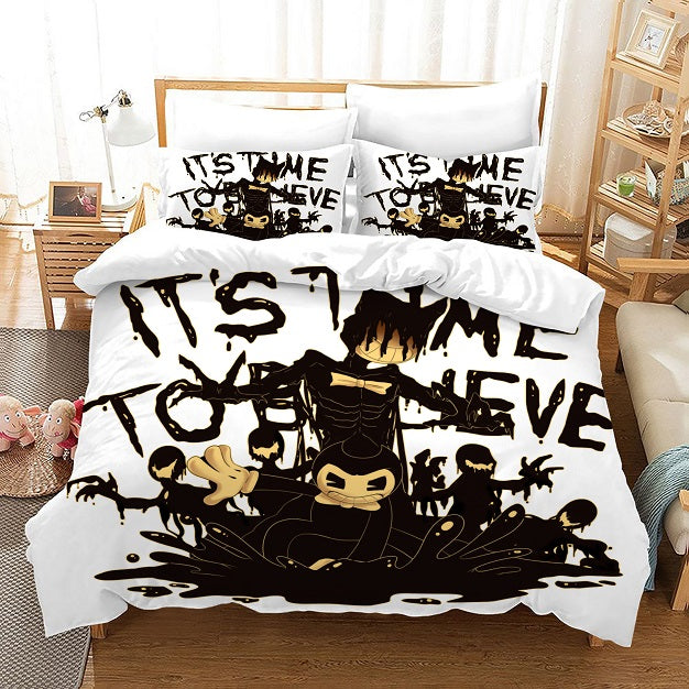 Bendy And The Ink Machine #49 Duvet Cover Quilt Cover Pillowcase Bedding Set Bed Linen Home Bedroom Decor