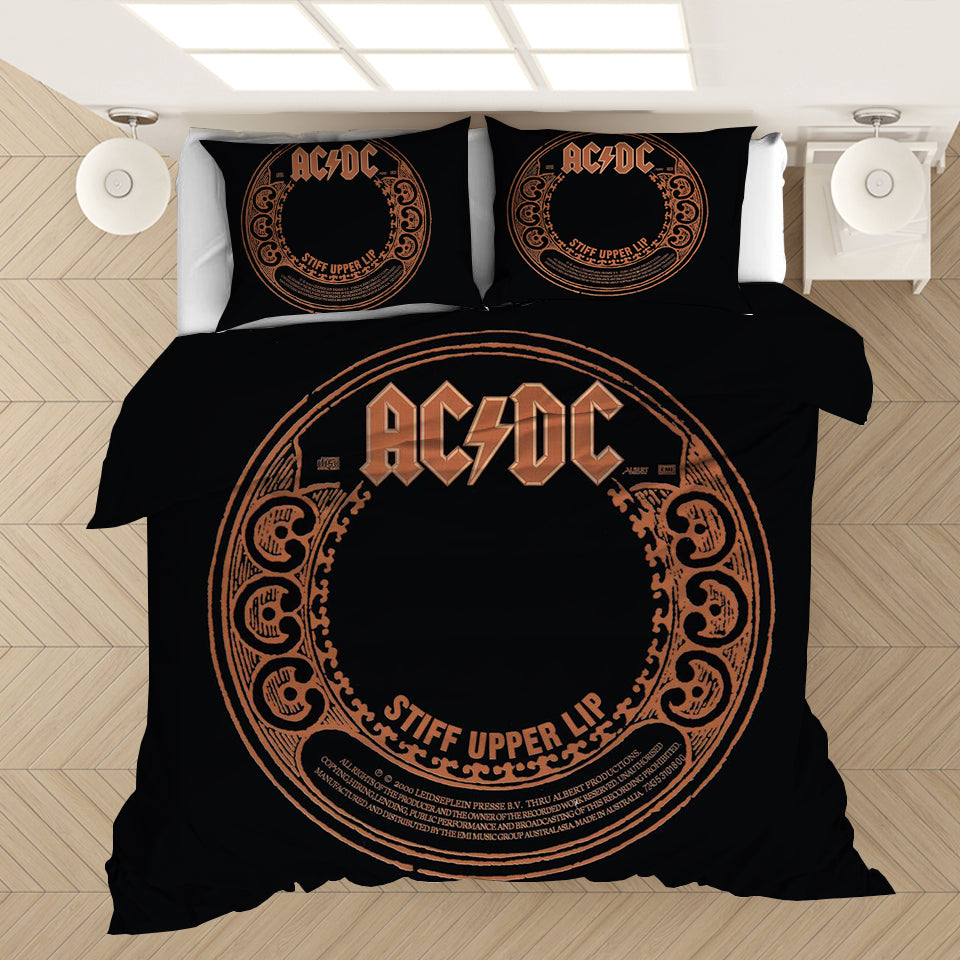 AC/DC Music Band #7 Duvet Cover Quilt Cover Pillowcase Bedding Set Bed Linen Home Bedroom Decor