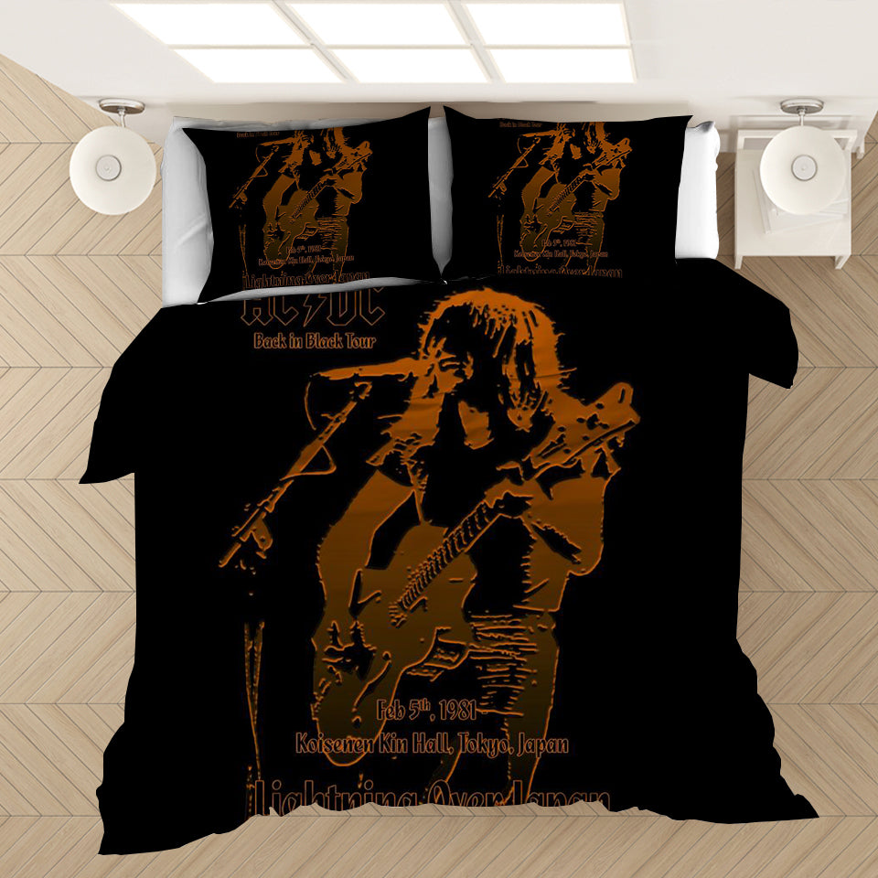 AC/DC Music Band #8 Duvet Cover Quilt Cover Pillowcase Bedding Set Bed Linen Home Bedroom Decor