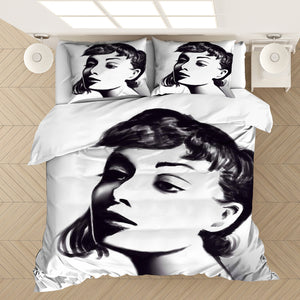 Audrey Hepburn #5 Duvet Cover Quilt Cover Pillowcase Bedding Set Bed Linen Home Bedroom Decor