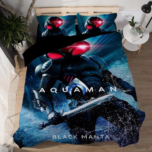 Aquaman Black Manta #5 Duvet Cover Quilt Cover Pillowcase Bedding Set Bed Linen