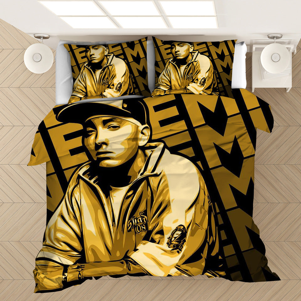 Hip Hop Rapper Eminem #2 Duvet Cover Quilt Cover Pillowcase Bedding Set Bed Linen Home Bedroom Decor