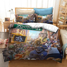 Load image into Gallery viewer, Zootopia Zootropolis Judy Nick #1 Duvet Cover Quilt Cover Pillowcase Bedding Set Bed Linen Home Bedroom Decor