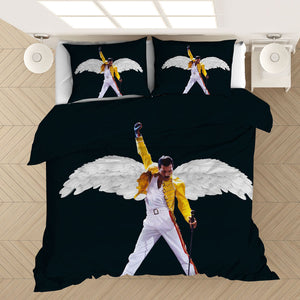 Freddie Mercury The Queen Band #1 Duvet Cover Quilt Cover Pillowcase Bedding Set Bed Linen Home Bedroom Decor