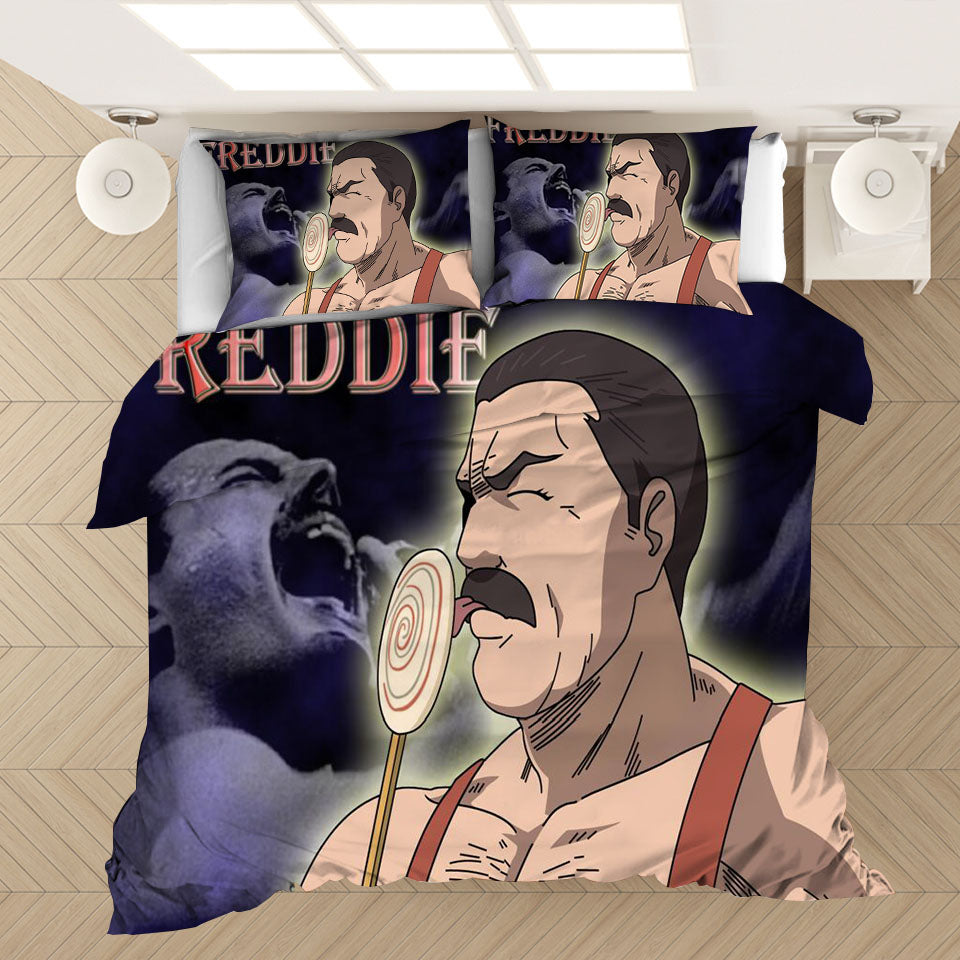 Freddie Mercury The Queen Band #4 Duvet Cover Quilt Cover Pillowcase Bedding Set Bed Linen Home Bedroom Decor