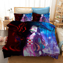Load image into Gallery viewer, Demon Slayer Kimetsu no Yaiba Kochou Shinobu #32 Duvet Cover Quilt Cover Pillowcase Bedding Set Bed Linen