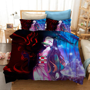 Demon Slayer Kimetsu no Yaiba Kochou Shinobu #32 Duvet Cover Quilt Cover Pillowcase Bedding Set Bed Linen