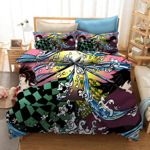 Demon Slayer Kimetsu no Yaiba Kochou Shinobu #15 Duvet Cover Quilt Cover Pillowcase Bedding Set Bed Linen