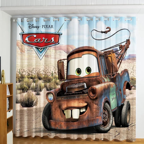Movie Cars Lightning McQueen #1 Blackout Curtains For Window Treatment Set For Living Room Bedroom Decor
