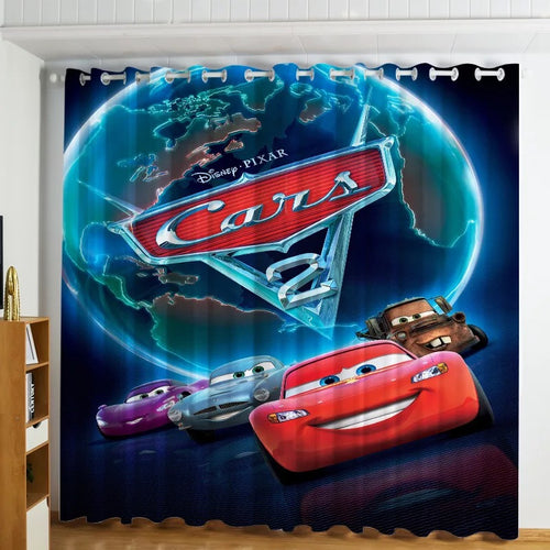 Movie Cars Lightning McQueen #3 Blackout Curtains For Window Treatment Set For Living Room Bedroom Decor