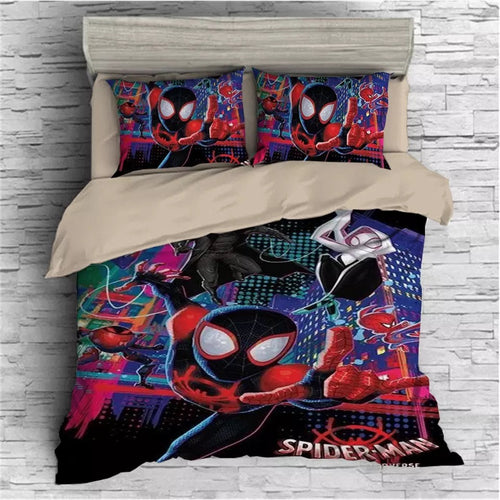 Spider-Man: Into the Spider-Verse Miles Morales #14 Duvet Cover Quilt Cover Pillowcase Bedding Set