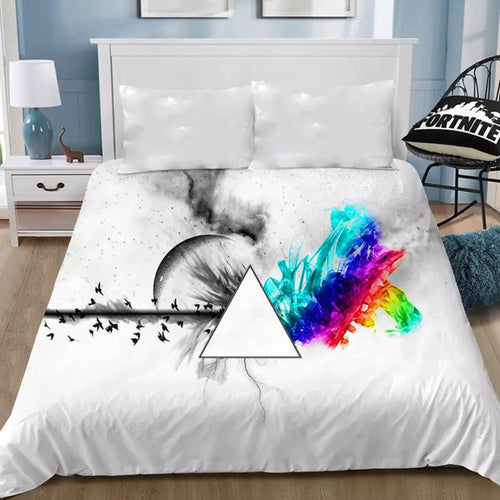 Pink Floyd #4 Bedding Sheet Flat Sheets Bed Sheet Bedding Linen Double Queen Size Bedsheet