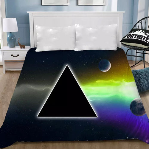 Pink Floyd #9 Bedding Sheet Flat Sheets Bed Sheet Bedding Linen Double Queen Size Bedsheet