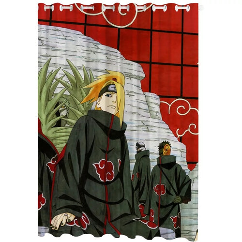 Anime Naruto Uchiha Itachi #12 Blackout Curtains For Window Treatment Set For Living Room Bedroom Decor