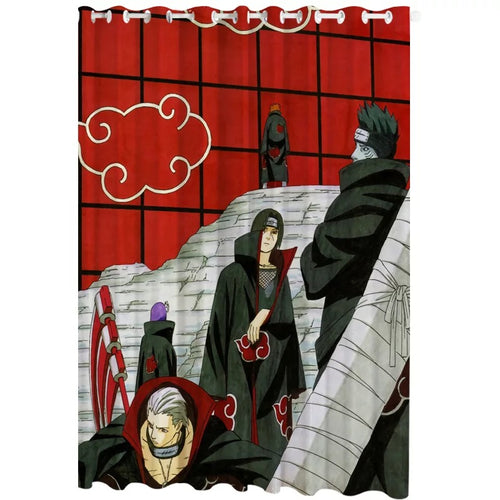 Anime Naruto Uchiha Itachi #13 Blackout Curtains For Window Treatment Set For Living Room Bedroom Decor