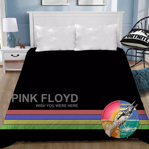 Pink Floyd #15 Bedding Sheet Flat Sheets Bed Sheet Bedding Linen Double Queen Size Bedsheet