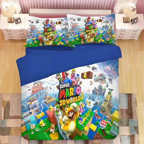 Super Mario Bros #1 Duvet Cover Quilt Cover Pillowcase Bedding Set Bed Linen