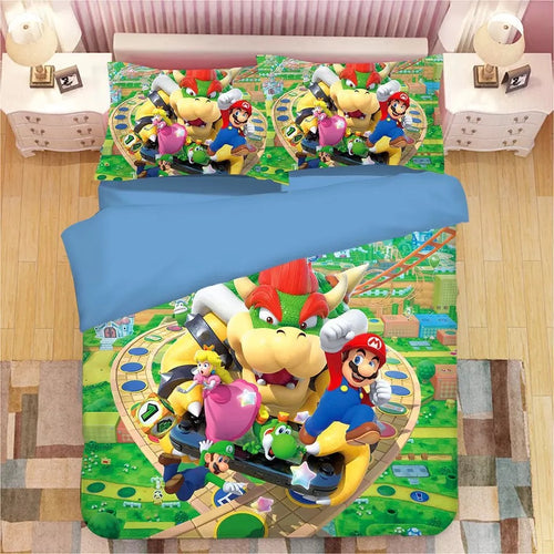 Super Mario Bros #2 Duvet Cover Quilt Cover Pillowcase Bedding Set Bed Linen