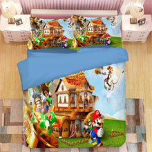 Load image into Gallery viewer, Super Mario Bros #3 Duvet Cover Quilt Cover Pillowcase Bedding Set Bed Linen