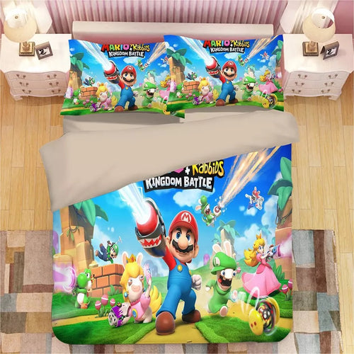 Super Mario Bros #5 Duvet Cover Quilt Cover Pillowcase Bedding Set Bed Linen