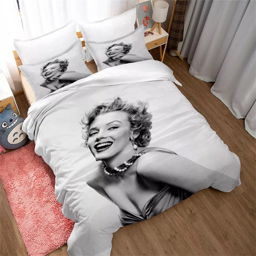 Marilyn Monroe #7 Duvet Cover Quilt Cover Pillowcase Bedding Set Bed Linen Home Decor