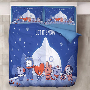 BTS BT21 TATA COOKY Bangtan Boys #1 Duvet Cover Quilt Cover Pillowcase Bedding Set Bed Linen