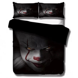 2019 Stephen King IT Chapter Two 2 Pennywise Scary Clown  #2 Duvet Cover Quilt Cover Pillowcase Bedding Set Bed Linen