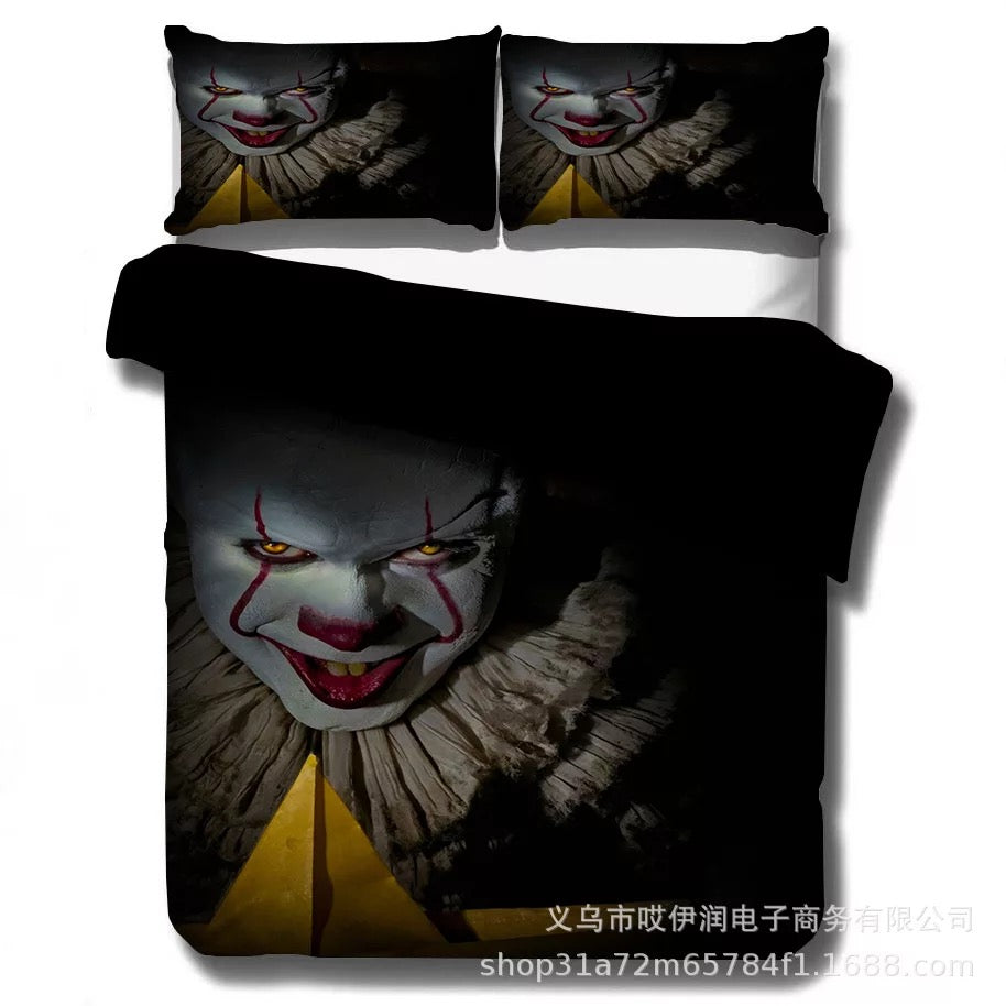 2019 Stephen King IT Chapter Two 2 Pennywise Scary Clown  #4 Duvet Cover Quilt Cover Pillowcase Bedding Set Bed Linen