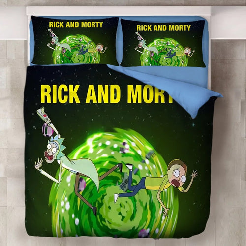 Rick and Morty #1 Duvet Cover Quilt Cover Pillowcase Bedding Set Bed Linen